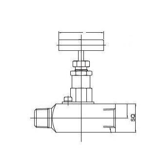 Gauge & Gauge Root valve - 1/2 - Stainless Steel - 6000psi - Part #: SGV-MF-8N-S6