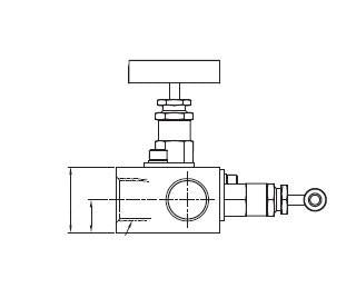 Manifold Valve - 1/2 - Stainless Steel - 6000psi - Part #: SM2V-F-8N-S6