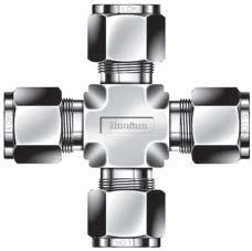 Tube Union Cross - 3/8 - Stainless Steel - Part #: SX-6-S6