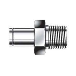 Male Adapter - 3/16 - 1/4 - Stainless Steel - Part #: SAM-3-4N-S6