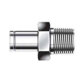 Male Adapter - 3/8 - 1/2 - Stainless Steel - Part #: SAM-6-8N-S6