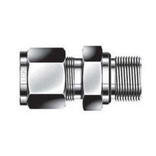 O-Seal Straight Thread Connector - 1/4 - Stainless Steel, Part #: SCOS-4-4U-S6
