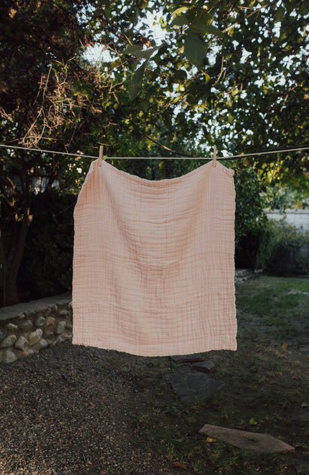 Blush Layered Gauze Blanket