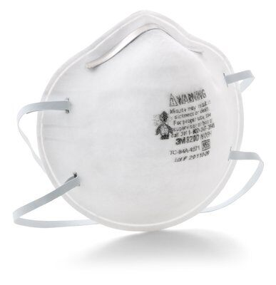 3M N95 Particulate Respirator 8200/07023 - Box of 20 - Free Shipping