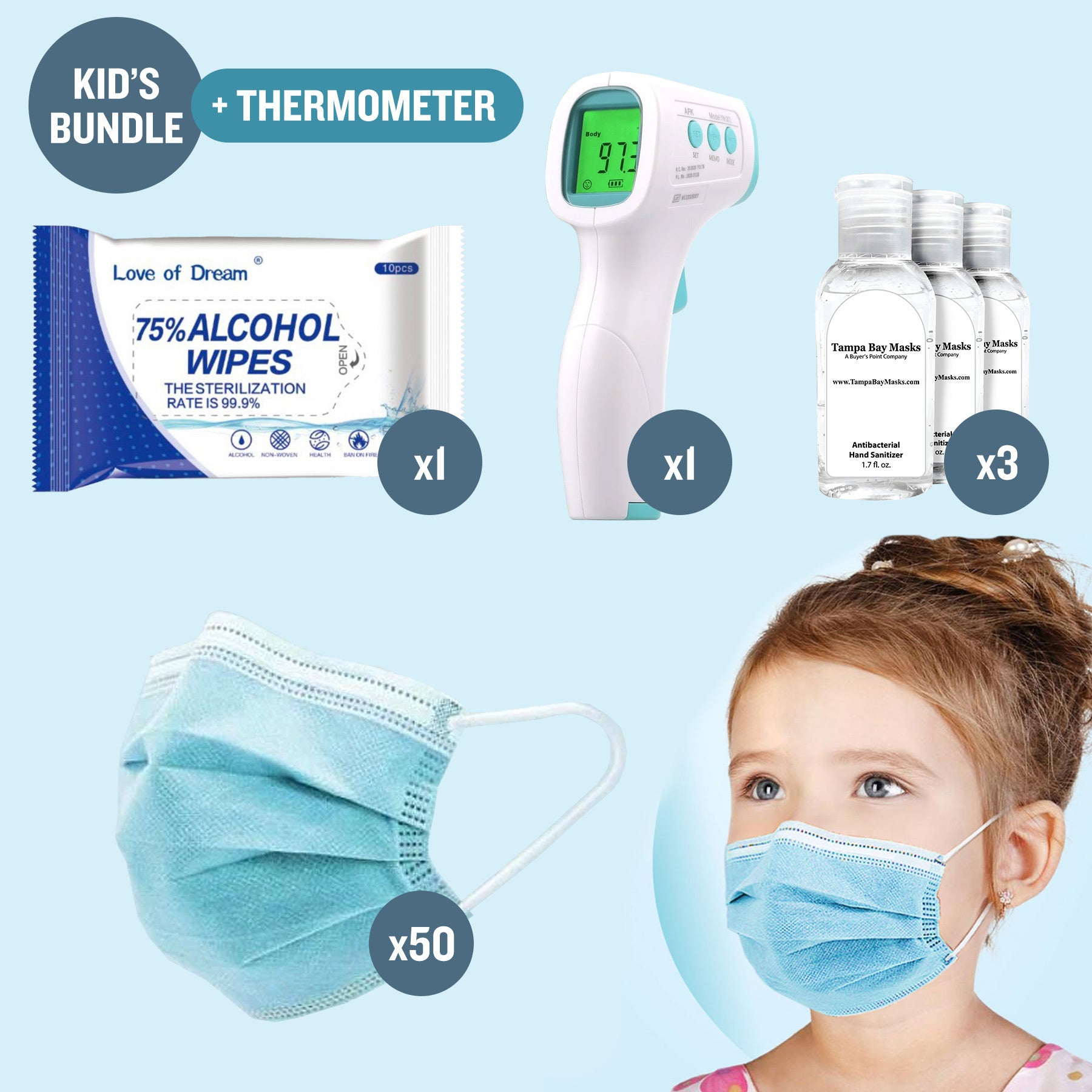 Kid Bundle + Thermometer - Free Shipping