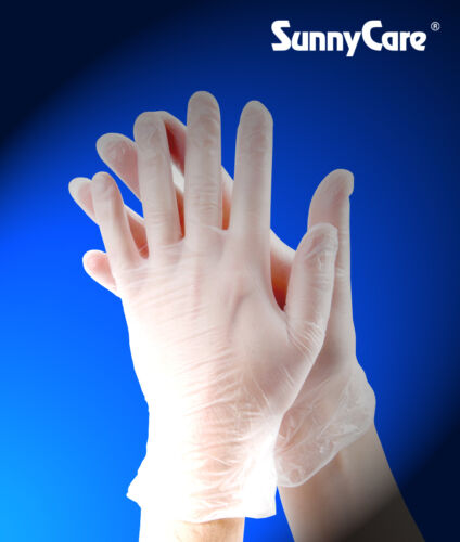 100 SunnyCare #7803 Vinyl Disposable Gloves Powder Free (Latex Nitrile Free) -L