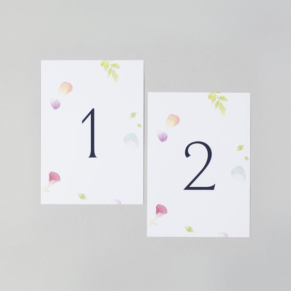 Amelia table numbers