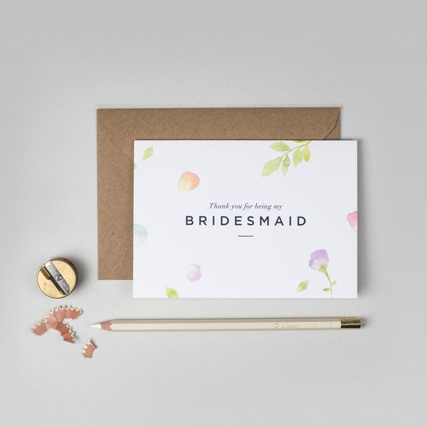 Thank you Bridesmaid Amelia collection card