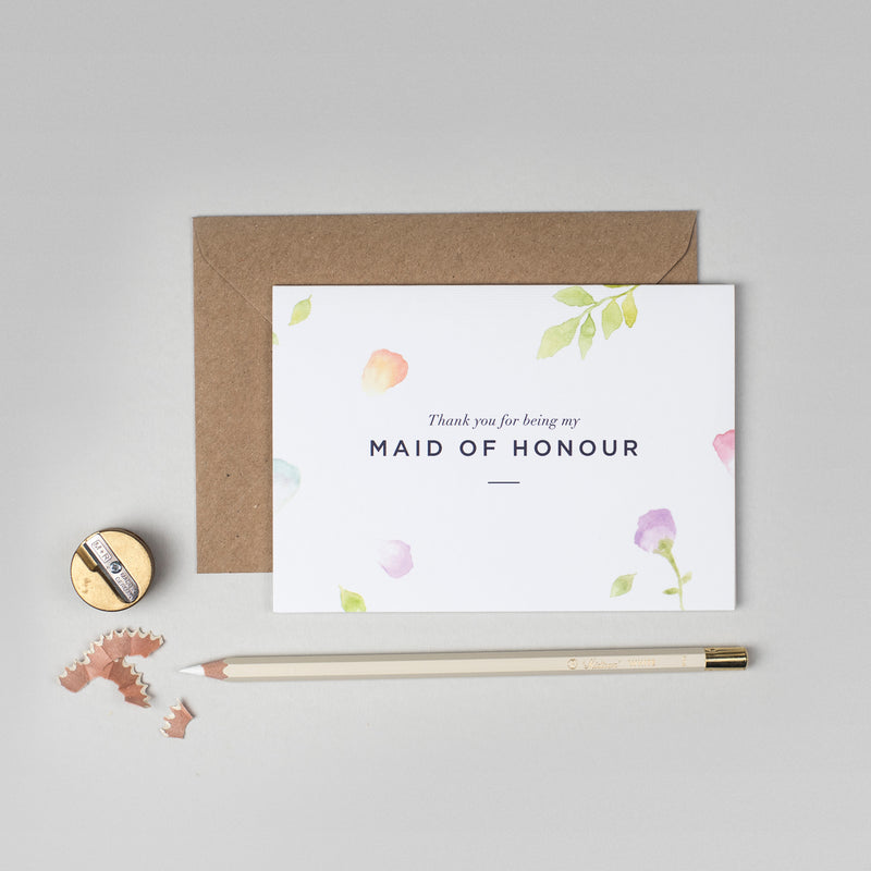 Thank you Maid of Honour Amelia collection card