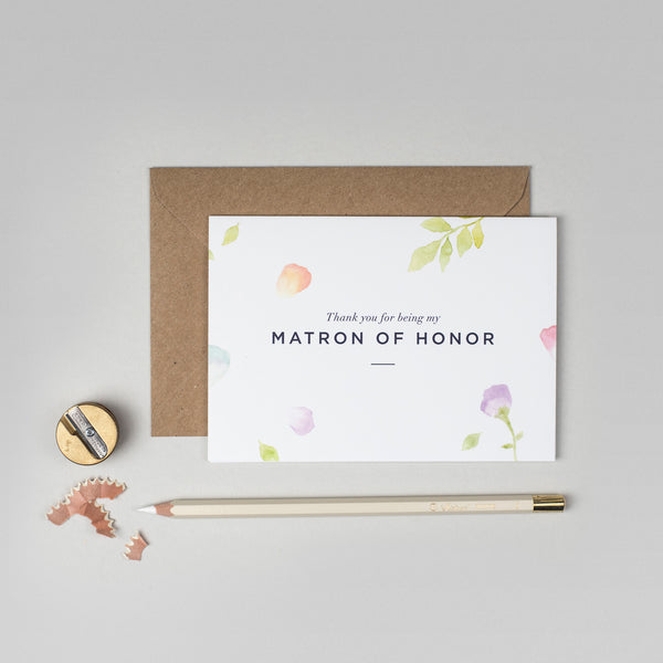 Thank you Matron of Honour Amelia collection card