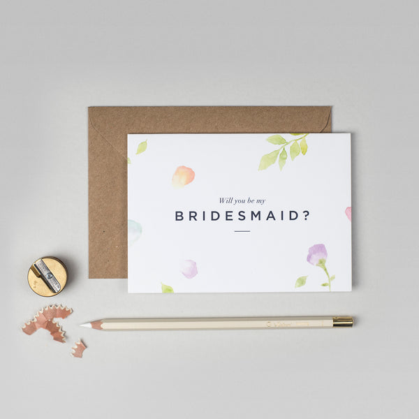 Will you be my Bridesmaid Amelia collection card