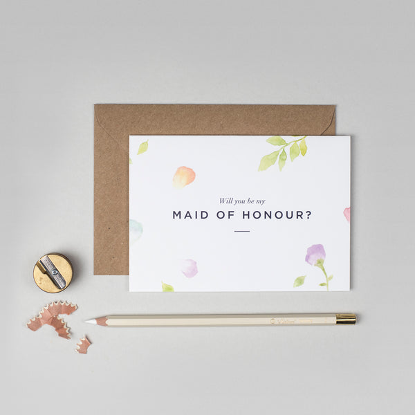 Will you be my Maid of Honour Amelia collection card