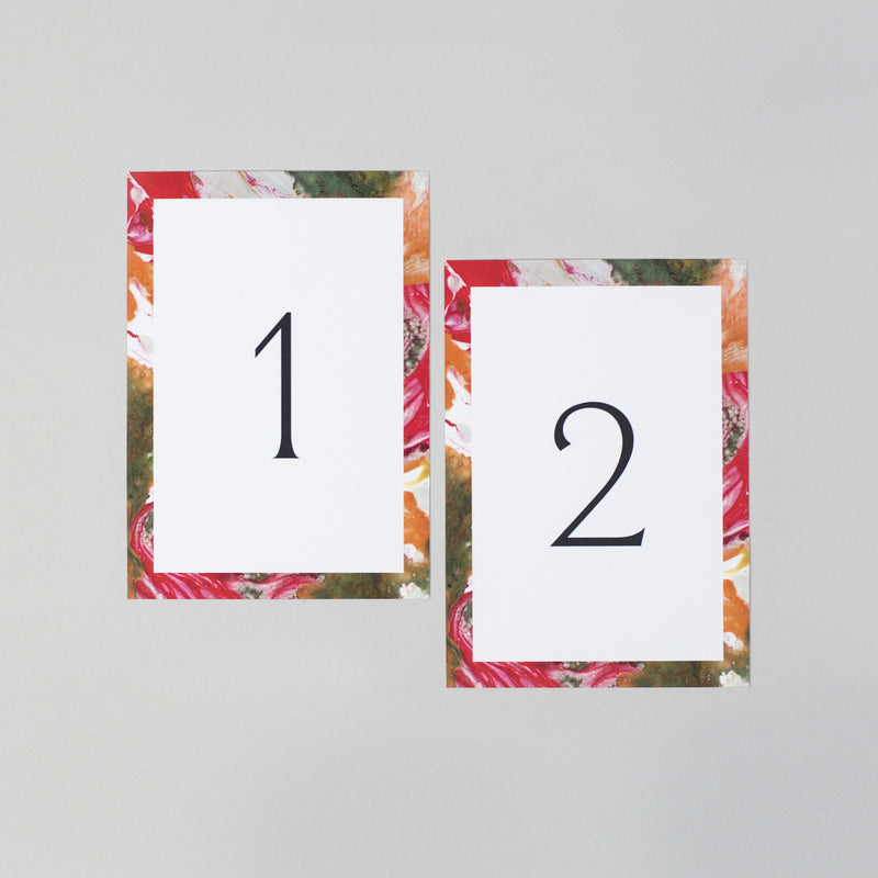 Autumn table numbers