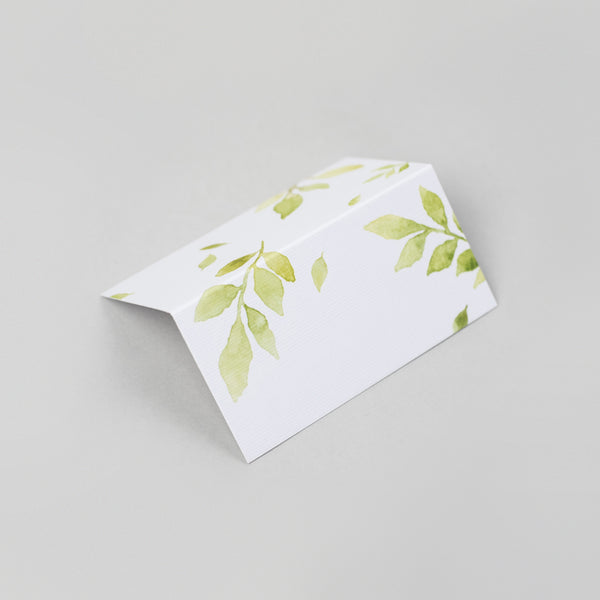 Botanical place cards pack of 10