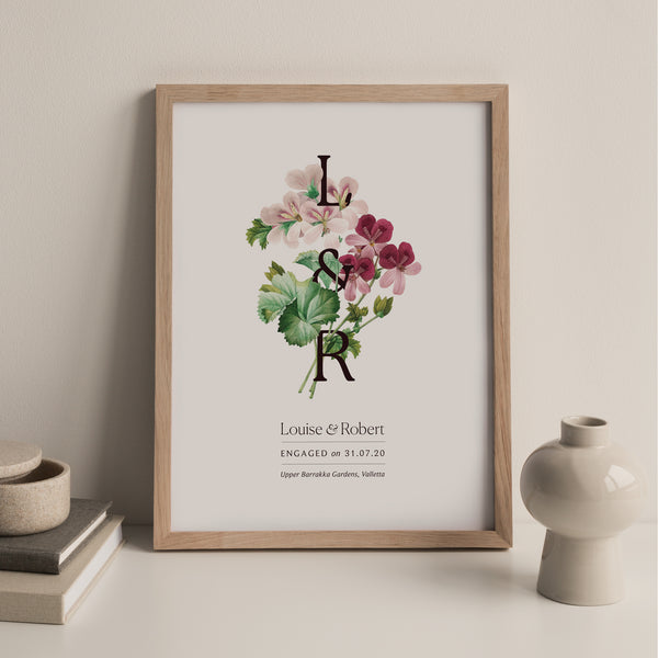 Entwined Botanical Engagement Print