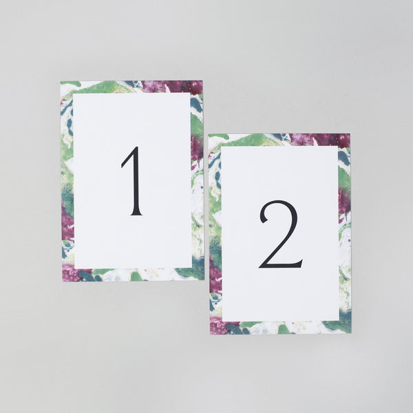 Evelyn table numbers
