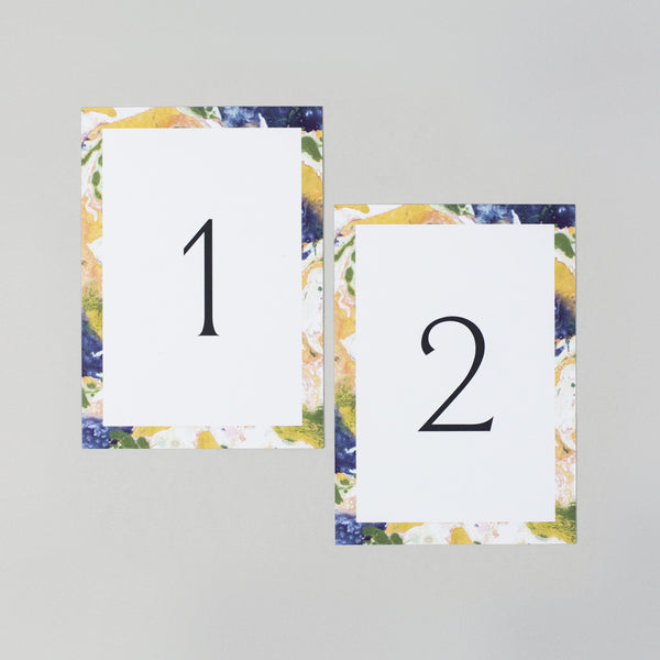 Heather table numbers