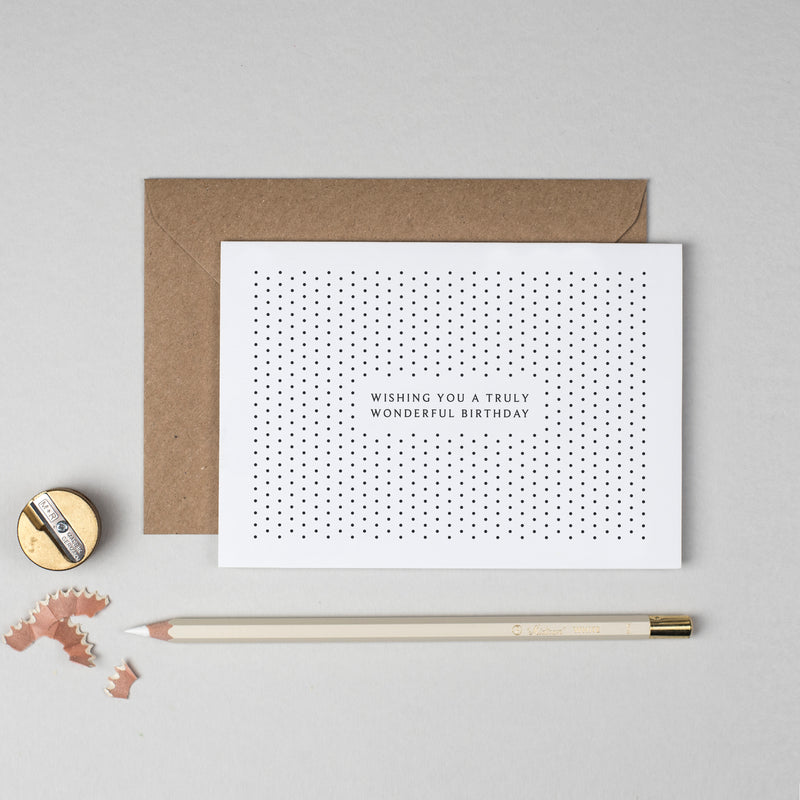 Wonderful birthday polka dot card