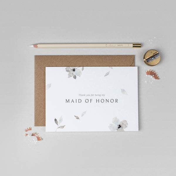 Thank you Maid of Honour Eloise collection card