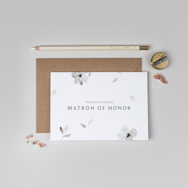 Thank you Matron of Honour Eloise collection card