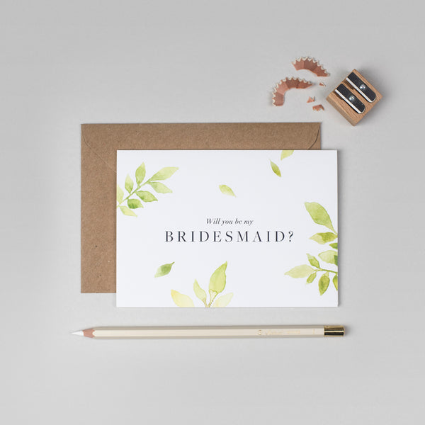 Will you be my Bridesmaid Botanical card