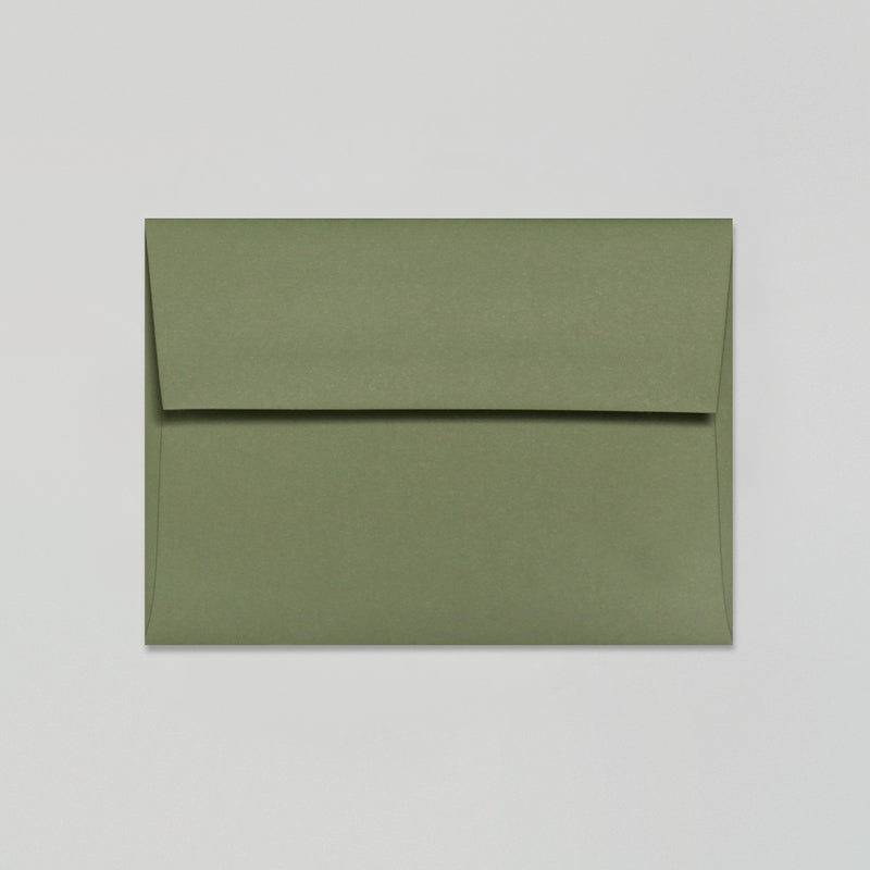 Luxury green RSVP envelope