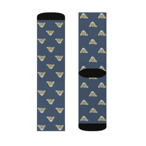 Lil Elfie Little Faces on Blue Sublimation Socks