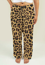 Load image into Gallery viewer, Ladies Pajama Pants with Leopard Print