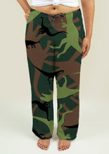 Load image into Gallery viewer, Ladies Pajama Pants with Dinosaur Camouflage