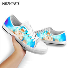 Load image into Gallery viewer, INSTANTARTS Dragon Ball Z Anime Flats Shoes Boys Girls Fashion Lace Up Sneakers 3D Print Son-Goku Vulcanized Shoe Casual Sneaker