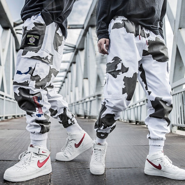 Cool Man Jogger Camouflage Side Pockets Loose Style Men's Sweatpants Fashion 2019 High Street Casual Pants Mens Streetwear Pants