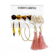 Load image into Gallery viewer, Oversize Gold Color Big Circle Hoop Earrings Set for Women Vintage Steampunk Ear Clip Wedding Party Jewelry Gift 2019 Wholesale