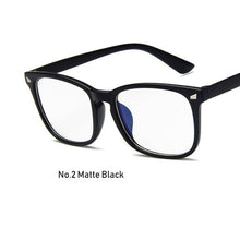 Load image into Gallery viewer, Womens Sexy Vintage UV400 Spectacle Square Glasses Frame Computer Gaming Clear Lens Anti-UV Anti Blue Light Rivet Eyeglasses