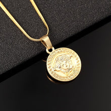 Load image into Gallery viewer, 2020 New Hip Hop New Fashion Jewelry Gold Color Medusa Pendant Necklace Hot Sale Accessories Wholesale