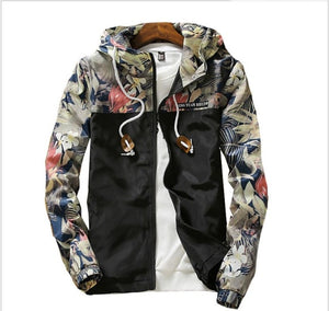 Spring autumn Womens Windbreaker Plus Size 4XL Zipper Hooded Floral Loose Windbreaker Womens Jacket Basic Jacket Coat    201929