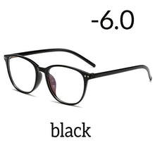 Load image into Gallery viewer, Seemfly Ultralight Anti-blue Light Myopia Glasses Women&Men Round Frame Nearsighted Prescription Glasses Diopter -1.0to-6.0