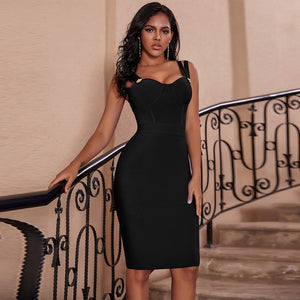 Ocstrade Vestidos Bandage 2020 New Women Spaghetti Strap Sexy Green Bandage Dress Bodycon Celebrity Evening Club Party Dress