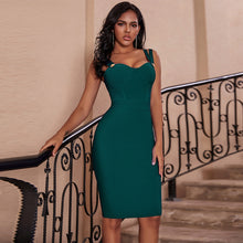 Load image into Gallery viewer, Ocstrade Vestidos Bandage 2020 New Women Spaghetti Strap Sexy Green Bandage Dress Bodycon Celebrity Evening Club Party Dress
