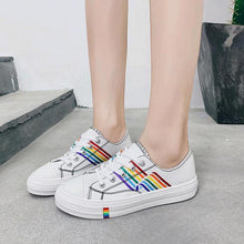 Load image into Gallery viewer, Colorized leisure Canvas Shoes Women Summer Fresh Fashion Joker Low Help Students Trend Comfortable Non-slip White Sneakers