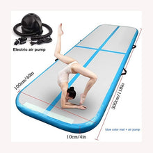 Load image into Gallery viewer, 3m 4m 5m Inflatable Track Gymnastics Mattress Gym Tumble Airtrack Floor Yoga Olympics Tumbling wrestling Yogo Electric Air Pump