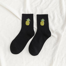Load image into Gallery viewer, 1 Pair Kawaii Unisex Happy Funny Socks Fruit Harajuku Colorful Mid Socks cute Women Socks Women Size 35-42 Hot sale