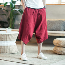 Load image into Gallery viewer, Dropshipping Men Harajuku Harem Pants 2020 Mens Summer Cotton Linen Joggers Pants Male Vintage Chinese Style Sweatpants Fashions