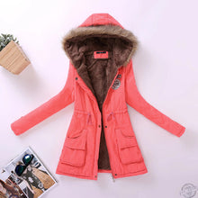 Load image into Gallery viewer, new winter women jacket medium-long thicken plus size 4XL outwear hooded wadded coat slim parka cotton-padded jacket overcoat