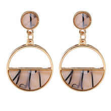 Load image into Gallery viewer, 2019 New Women's Earrings Color Metal Simple Charm Hollow Geometric Pendant Earrings Suitable For Winter Jewelry Lover Gift