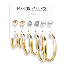 Load image into Gallery viewer, Oversize Hoop Earrings Set Gold Color Round Circle Women's  Earrings DIY 2019  Brincos Statement Jewelry