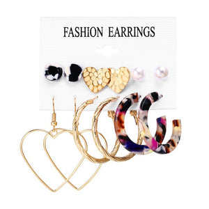 Oversize Hoop Earrings Set Gold Color Round Circle Women's  Earrings DIY 2019  Brincos Statement Jewelry
