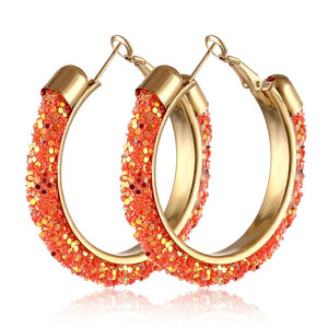 IPARAM 2020 New Big Circle Round Hoop Earrings for Women's Fashion Statement Golden Punk Charm Earrings Party Jewelry