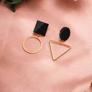 X&P New Fashion Round Dangle Drop Korean Earrings For Women Geometric Round Heart Gold Earring Wedding 2020 kolczyki Jewelry