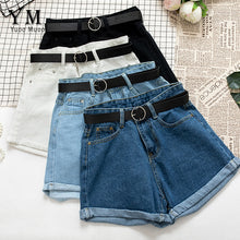 Load image into Gallery viewer, YuooMuoo All Match Sashes Casual Women Denim Shorts Crimping High Waist Slim Summer Jeans Shorts Feminino Chic Hot Ladies Bottom