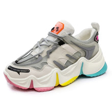 Load image into Gallery viewer, 2020 Hot Summer Women Sneakers Vulcanize Breathable Rainbow Color Fashion Casuals Height Increasing Female Chunky Ladies Shoe
